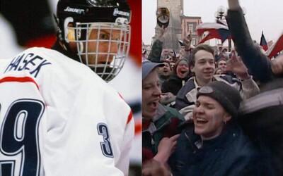 Dokument Nagano Tapes navrací pocit euforie z největšího hokejového vítězství v dějinách České republiky