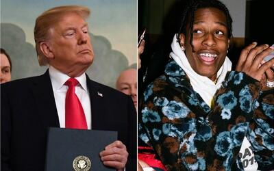 Donald Trump chtěl, aby mu A$AP Rocky poděkoval. Raper mu už neodepsal
