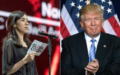 Donald Trump nepoznal nositelku Nobelovy ceny, kterou sexuálně zneužívali bojovníci Islámského státu