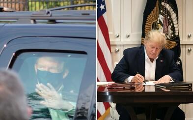 Donald Trump porušil karanténní pravidla. Opustil nemocnici, jen aby z auta zamával svým příznivcům