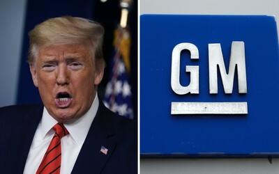 Donald Trump se naštval na automobilky. Přikázal jim, aby vyráběly plicní ventilátory