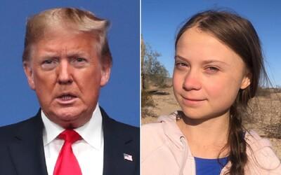 Donald Trump se opět naváží do Grety Thunberg, prý má zapracovat na zvládání hněvu. Aktivistka trefně zareagovala