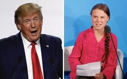 """Donald Trump si utahuje z klimatické aktivistky Grety Thunberg: """"Vypadá jako velmi šťastná dívka!"""""""