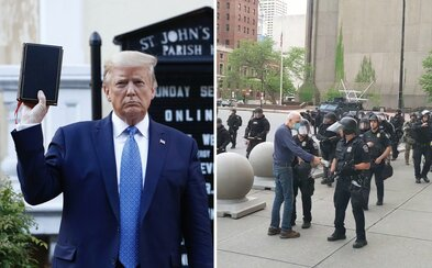 Donald Trump zverejnil svoj zrejme zatiaľ najhorší status. 75-ročného dôchodcu zraneného políciou označil za provokatéra ANTIFY