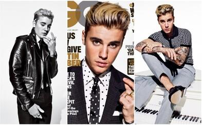 Dospelejší Justin Bieber v obleku sa po prvýkrát objavuje na titulnej stránke magazínu GQ