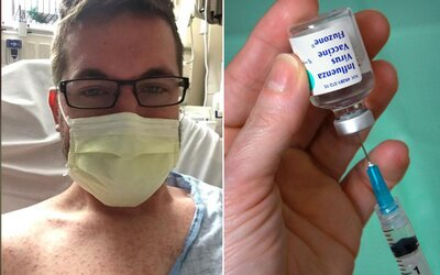 Dostal spalničky, protože ho rodiče nedali očkovat. Teď světu posílá výmluvný vzkaz