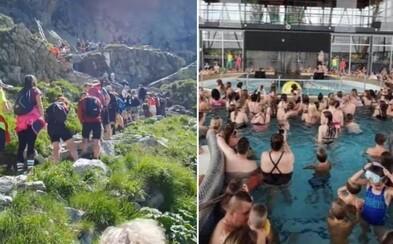 Dovolenka na Slovensku? Už radšej nie, komentujú ľudia totálne preplnené Tatry, kúpaliská aj aquaparky
