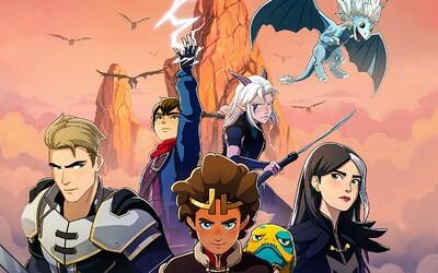 Draci chrlící oheň, mágové a armády lidstva proti elfům. 3. série Dragon Prince odhaluje epický trailer a datum premiéry