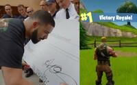 Drake dal svému oblíbenému streamerovi 100 tisíc korun. Vyhrál totiž ve Fortnite