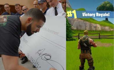 Drake dal svojmu obľúbenému streamerovi 4-tisíc eur. Vyhral totiž vo Fortnite