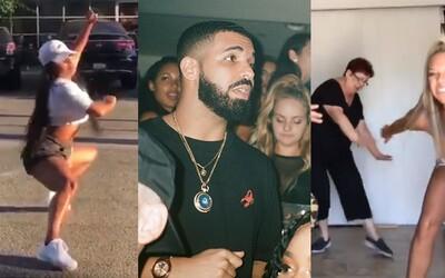 Drake rozpoutal novou skladbou vtipnou taneční výzvu. Lidé vyskakují z aut a válejí se v moři