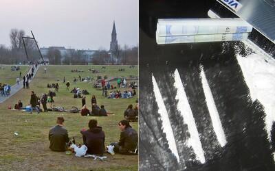 Drogovým dílerom nakreslili v berlínskom parku zóny, kde môžu predávať svoje produkty