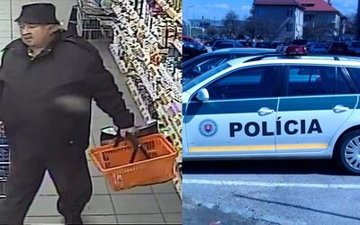 Důchodce ukradl potraviny za 4,49 €. Slovenští policisté žádají veřejnost o pomoc, chtějí ho co nejdříve polapit