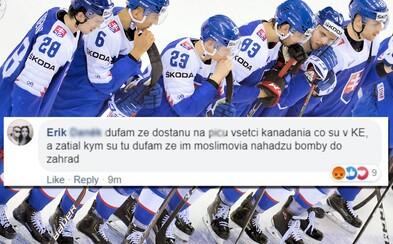 """""""Dúfam, že dostanú na pi*u všetci Kanaďania, čo boli v Košiciach."""" Po vypískaní hymny si Slováci išli vybiť zlosť aj na Facebook"""