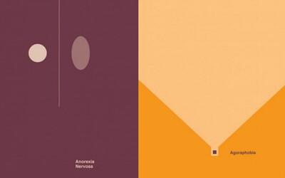 Duševné choroby znázornené na minimalistických ilustráciách