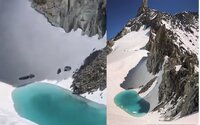 Důsledky globálního oteplování zažil na vlastní kůži. Horolezec v Alpách objevil jezero ve výšce 3500 metrů