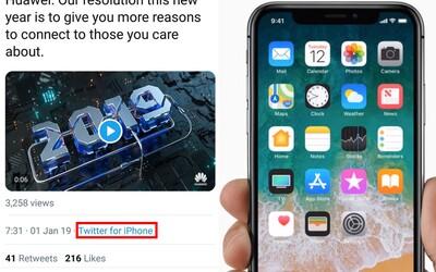 Dva zaměstnanci Huawei tweetovali z iPhonu. Přišli o pozice a snížili jim plat
