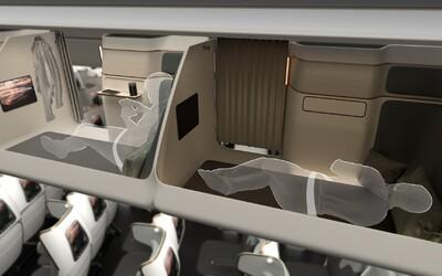Dvouřadové sezení či lůžko v prostoru pro zavazadla. Tyto futuristické designy možná změní budoucnost letecké dopravy