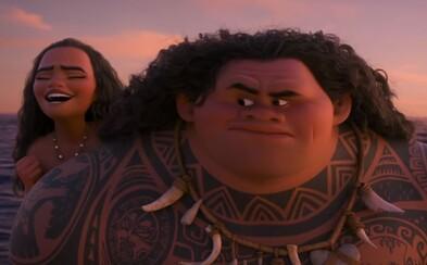 Dwayne Johnson je poloboh Maui v novej upútavke pre čarovne vyzerajúci animák Moana od Disney
