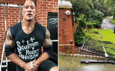 Dwayne Johnson vytrhl bránu holýma rukama, protože mu nešla elektřina a spěchal na natáčení. Opraváři se ho lekli