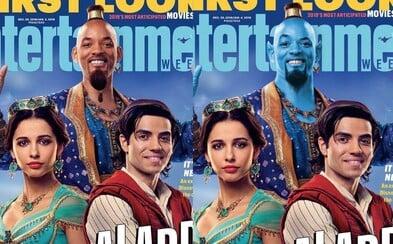 Džin Willa Smitha bude v Aladinovi modrý. CGI verziu potvrdil aj samotný herec