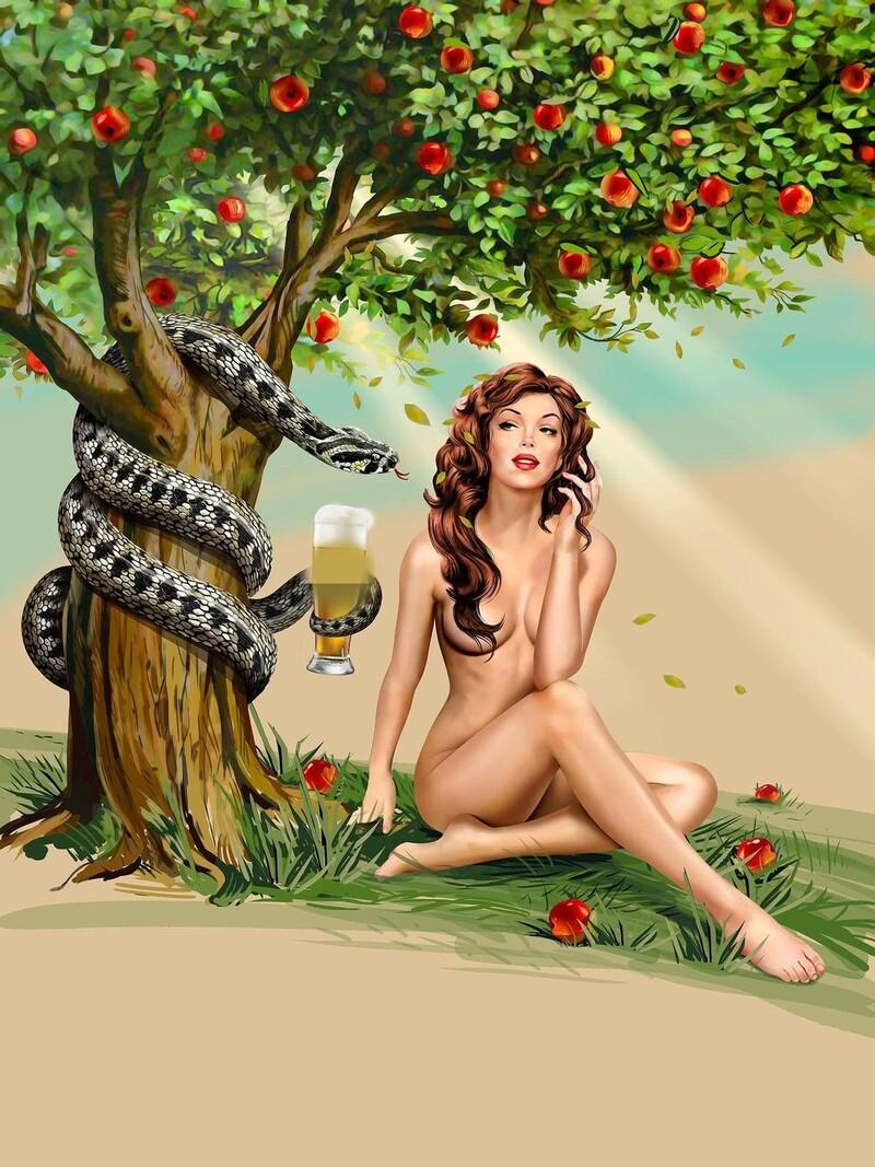 Která pivní značka vsadila na reklamu s ilustracemi svůdných žen, jakou máš možnost vidět i na obrázku?