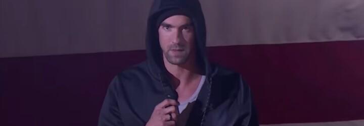 Michael Phelps sa zahral na Eminema, keď predviedol skladbu Lose Yourself na Lip Sync Battles