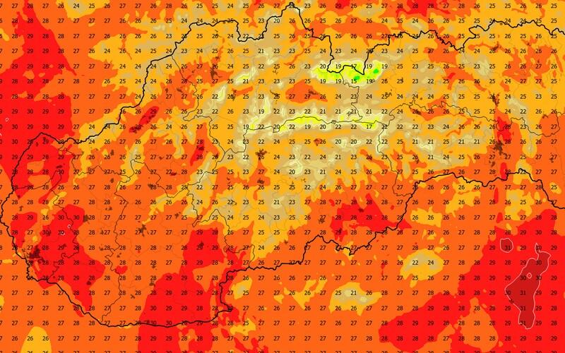 Prvý tropický deň na Slovensku: teploty prekročili 30 °C.