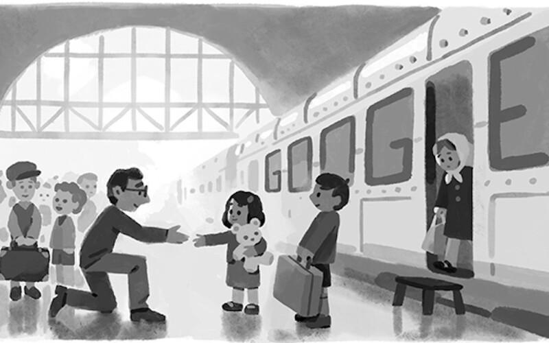Sir Nicholas Winton v Praze zachránil stovky dětí od jisté smrti. K hrdinovi druhé světové války odkazuje dnešní Google Doodle.