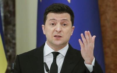 """""""Ukrajina je připravena na válku s Ruskem, bojovat bude do posledního muže,"""" prohlásil prezident Zelenskyj."""