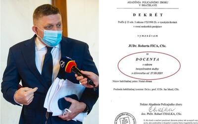 Fico nie je docent práva, ale docent - SBSkár, tvrdí Beblavý. Zverejnil oficiálny dokument.