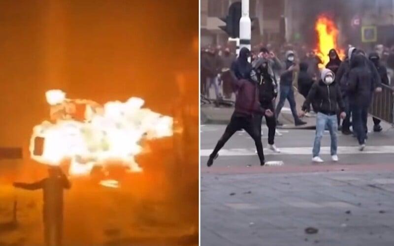 Video: Demonštranti v Holandsku bojujú proti opatreniam, vyhodili do vzduchu most.