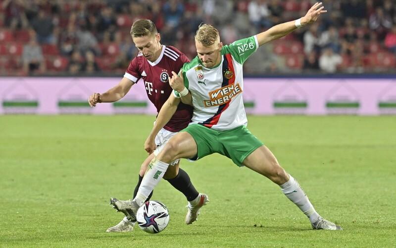 Sparta postoupila v Lize mistrů přes Rapid Vídeň! Doma vybojovala výhru 2:0