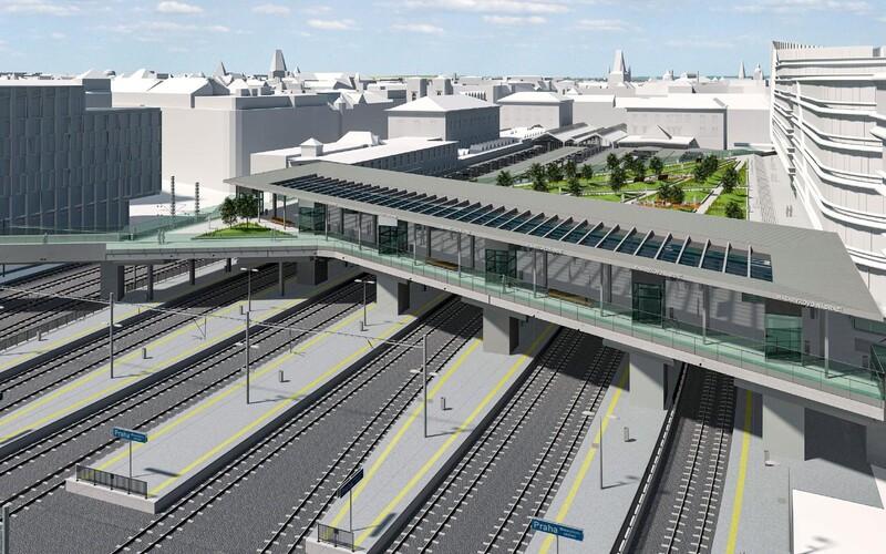 Takto bude vypadat železnice vedoucí z centra Prahy na letiště. Hotová by mohla být za 9 let.