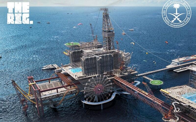 Na ropnej plošine postavia 3 hotely, 11 reštaurácií a horskú dráhu. Saudská Arábia otvorí prvý zábavný park s ropnou tematikou.