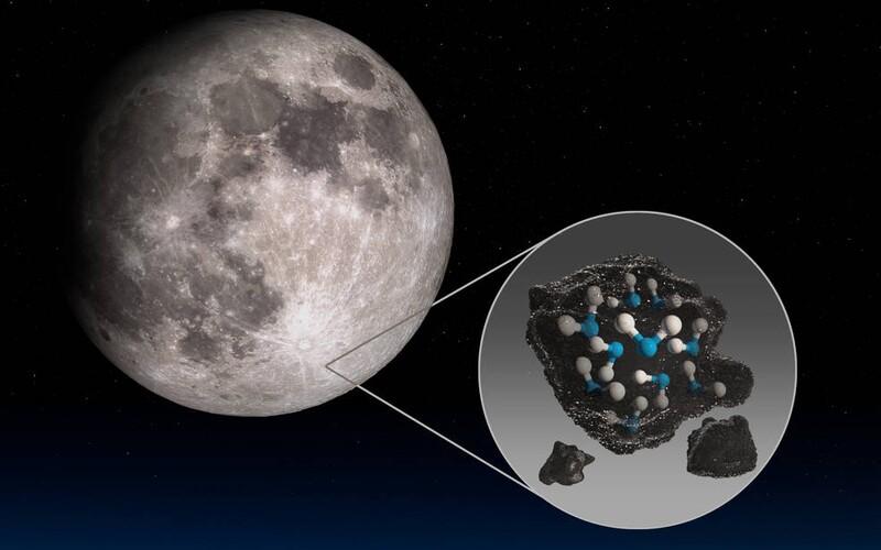 NASA zveřejnila převratný objev. Na přivrácené straně Měsíce našli vodu. Může posloužit při budování měsíční základny.