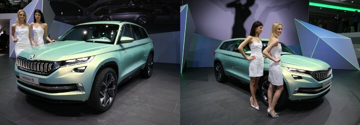SUV Kodiak od Škody nabírá reálné kontury. Koncept VisionS v Ženevě odhalil odvážný design i interiér