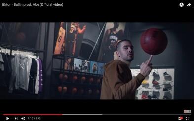 Ektor je vychovaný životem a v novém videoklipu jede ballin jako nikdo jiný