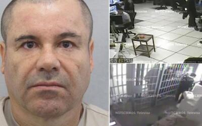 El Chapův únik z mexické věznice je konečně zveřejněn i se zvukem. Drogovému baronovi, na útěku od července, se však opět stahuje smyčka kolem krku