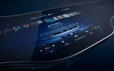 Elektrický Mercedes dostane 141centimetrovou hyperobrazovku složenou ze 3 displejů
