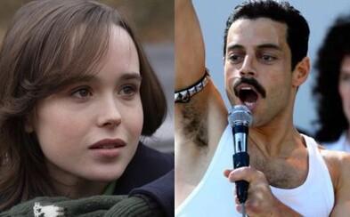 Ellen Page zachraňuje svet v superhrdinskom seriáli a záporáka v 25. filme s Jamesom Bondom si možno zahrá Rami Malek