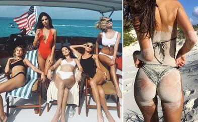 Emily Ratajkowski, Bella Hadid či Alessandra Ambrosio si spolu užívali slnečné Bahamy. Pozrite sa, ako dovolenkovali tieto krásky