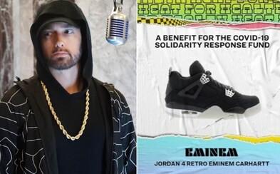 Eminem predáva tenisky Jordan z limitovanej edície. Výťažok pôjde na boj proti koronavírusu