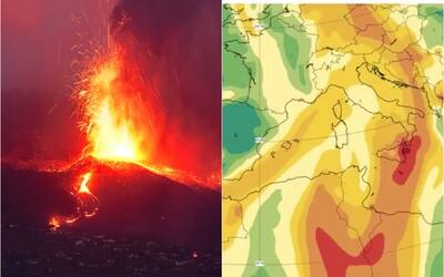 Erupciu sopky z ostrova La Palma pocítime aj na Slovensku. Oxid siričitý v kyslých dažďoch môže poškodiť ľudské zdravie