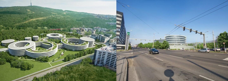 Eset chce v Bratislave futuristický komplex, aký na Slovensku nemá obdoby. V obrovskom areáli má stáť aj škôlka či športový pavilón