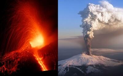 Etna se probudila! Největší evropská sopka chrlila lávu