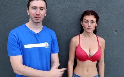 Experiment v ulicích pro dobrou věc. Dokázali muži rozepnout podprsenku krásné Lauren, nebo jim to činilo problémy?