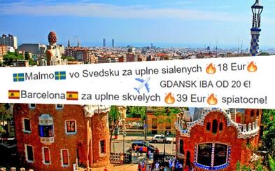 Extrémne lacné letenky pobláznili Slovákov.  Za pár eur vystriehneš letnú dovolenku aj jesenný výlet priamo na Facebooku