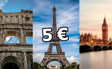 Extrémne lacné letenky za 5 € sú späť! Odletieť môžeš do Londýna, Paríža či Ríma