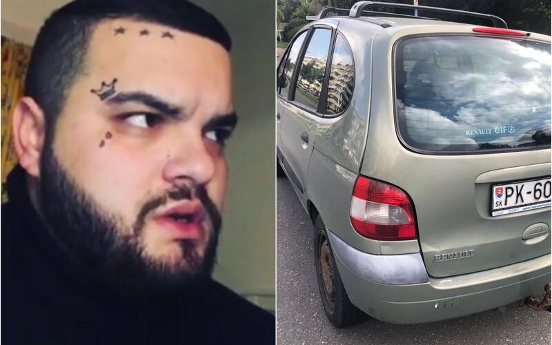 Slovenský youtuber Tuči ukradol služobné auto a tri litre alkoholu. Kedysi ho preslávili slovenskí raperi.